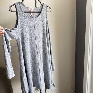 Poof! Long Sleeve Cold Shoulder Dress